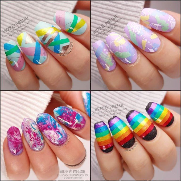 31DC2018-Wrap-Up - Buff & Pollish nail art