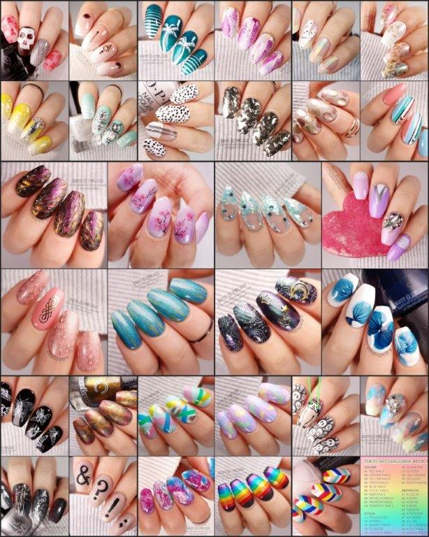 31DC2018-Wrap-Up - Buff & Pollish nail art ALL