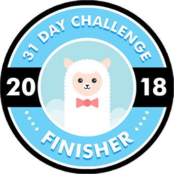 31 Day Challenge 2018