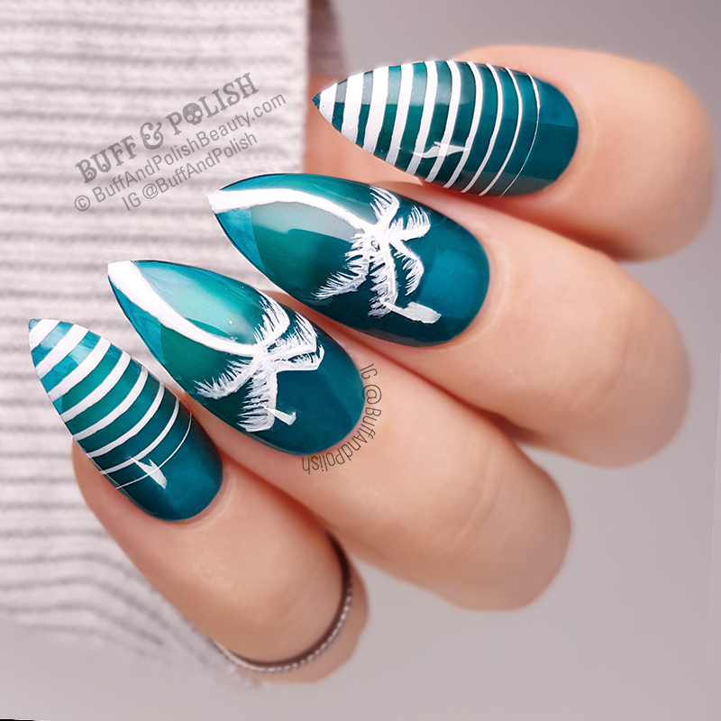 Buff & Polish - 31DC2018 Day 05 Blue - Bikinis & Beach Breaks Jelly Nails