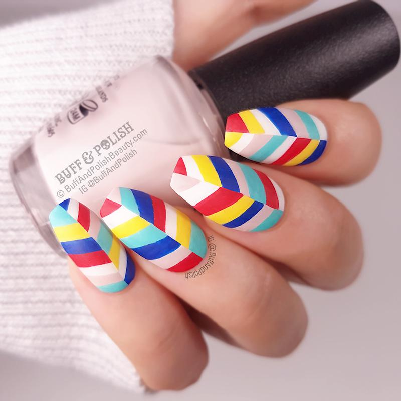 Buff & Polish - 31DC2018 Day 31 Nails You Love - SHRN Colourful Organic Abstract