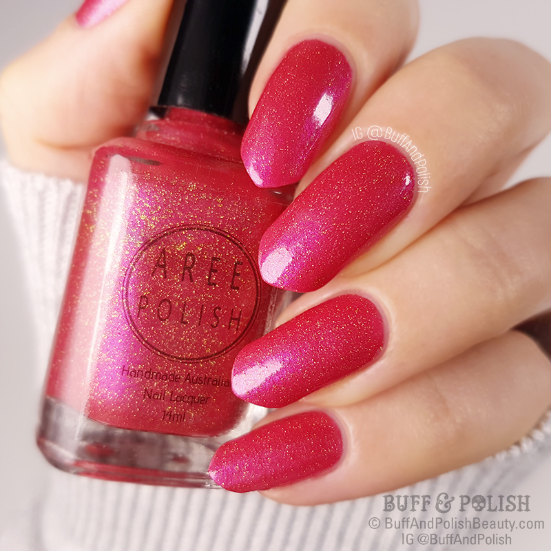 Buff & Polish - Aree Christies Purr polish swatch
