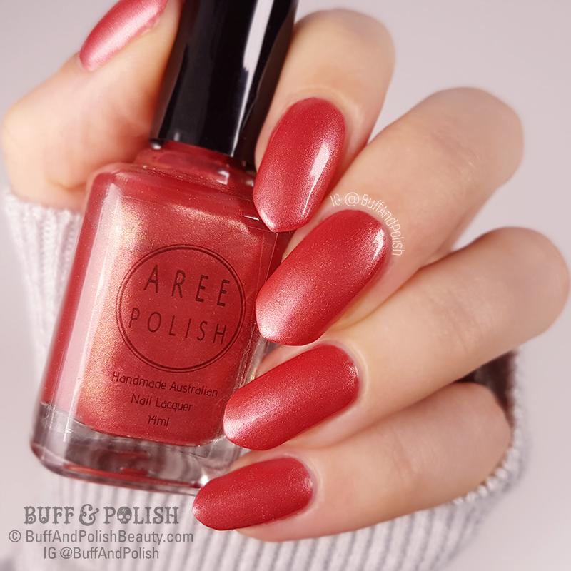 Buff & Polish - Aree Wine & Roses polish swatch