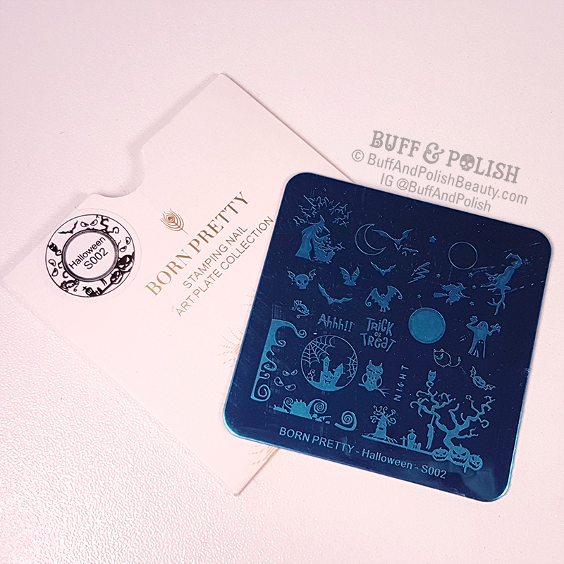 Buff & Polish - Born Pretty Halloween Plate S002
