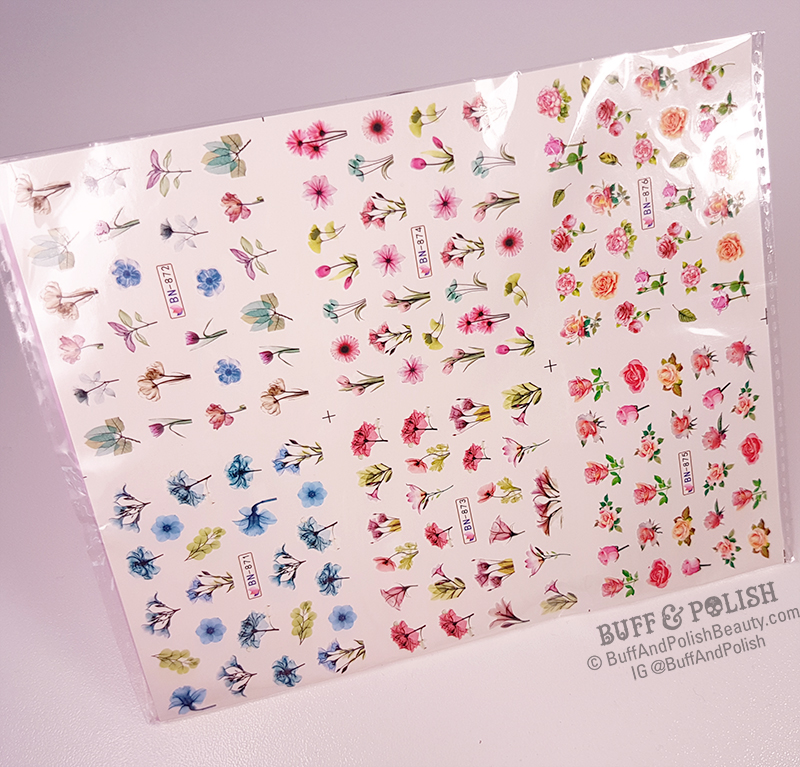 Buff & Polish - Tropical Water Decals Sheet of 12 - Born Pretty Review