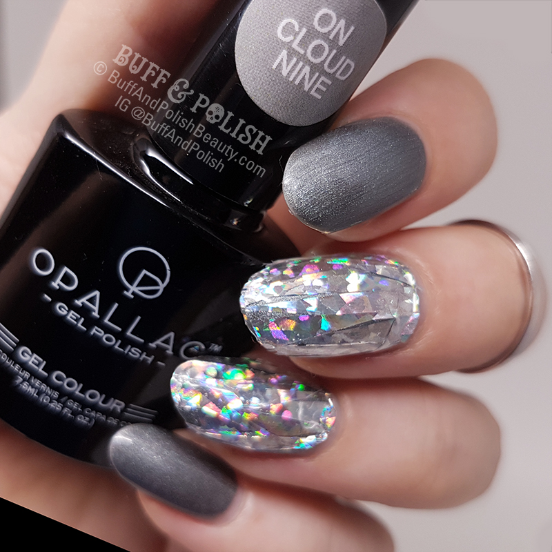 Diamond Nails - Holo on Grey Gel Polish – Buff & Polish