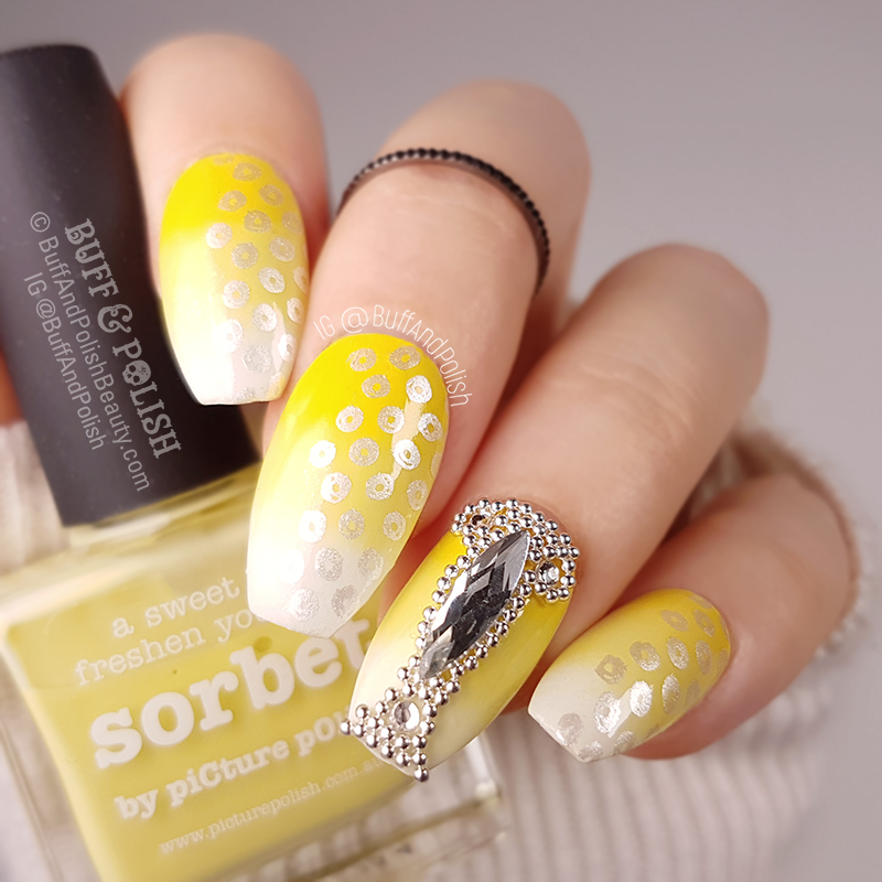Buff & Polish - Day 03 Yellow - Lemon Blinged Gradient