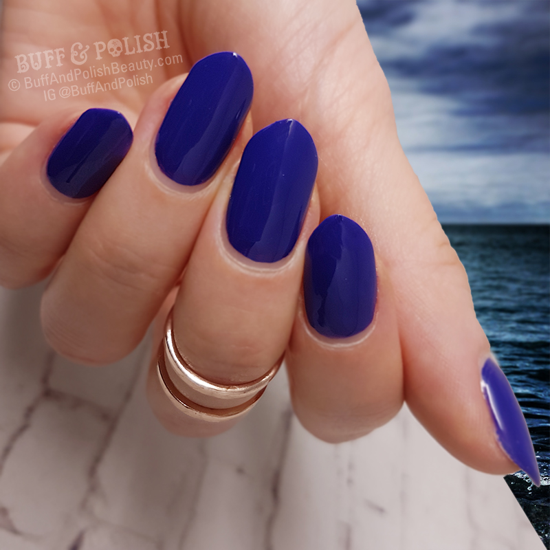 Madam Glam Royal Blue – Gel Polish Swatch – Buff & Polish