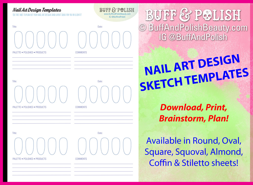 Nail Art Design Planning Templates – Buff & Polish