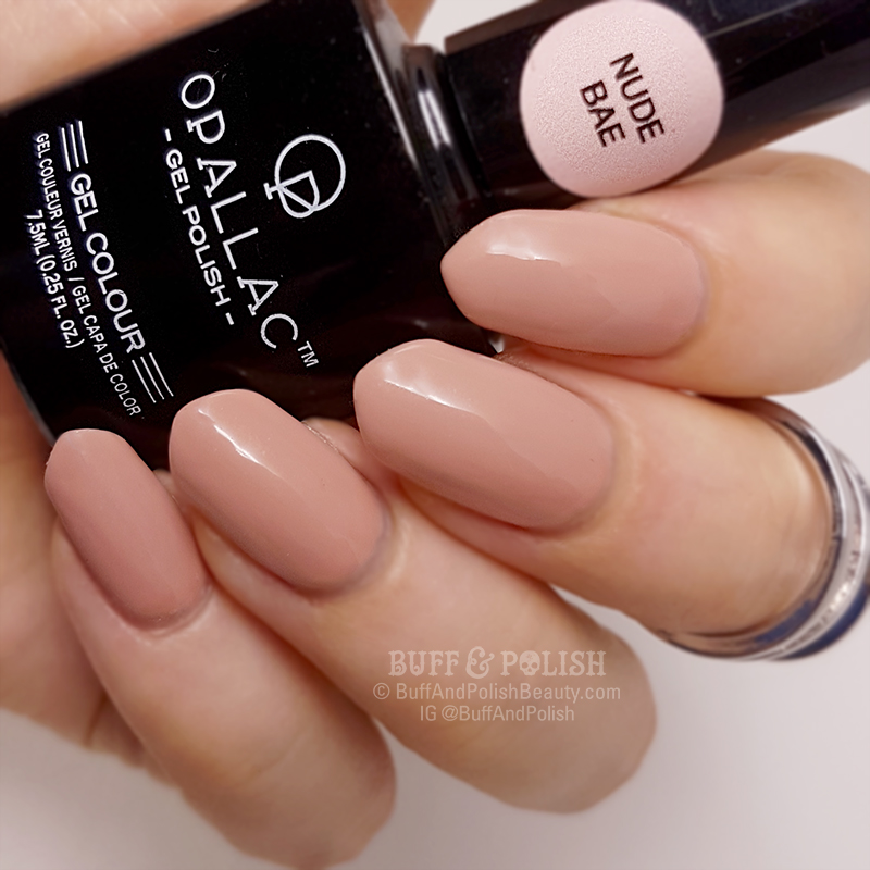 Opallac Nude Bae – Gel Polish Swatch – Buff & Polish