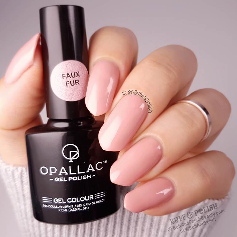Buff & Polish - Opallac Faux Fur Gel Polish Swatch GLOSS
