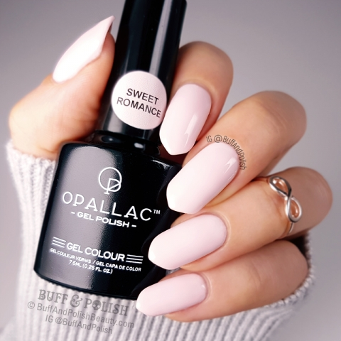 Buff & Polish - Opallac Sweet Romance Gel Polish Swatch GLOSS
