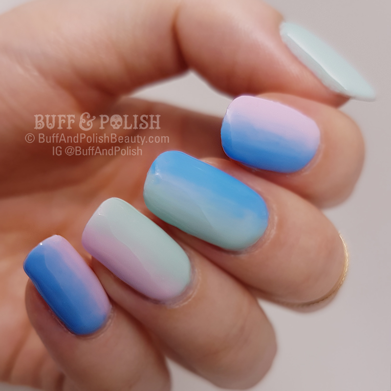 Pastel Gel Polish Gradient (Tutorial) – Buff & Polish