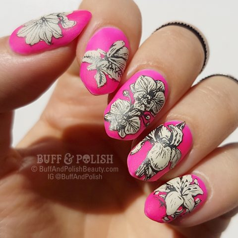 Buff & Polish - Manisha Bday Summer Evening Tropical Nail Art