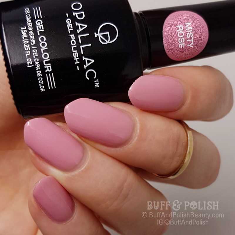 Opallac Misty Rose – Gel Polish Swatch, Matte & Gloss – Buff & Polish