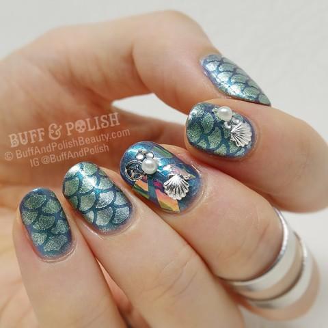 Buff & Polish - Manisha Bday Summer Evening Tropical Nail Art