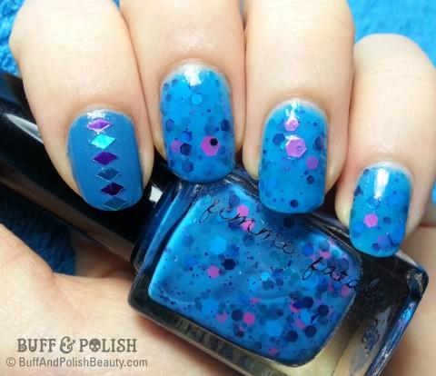 Buff & Polish - Born Pretty Store WaterColor Dreamy, Nicole Diary plate 090 nail art
