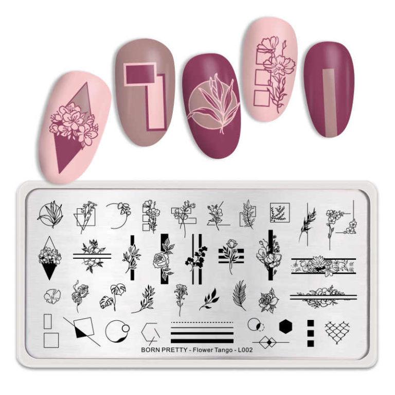 Born Pretty - Flower Tango L002 Stamping Plate