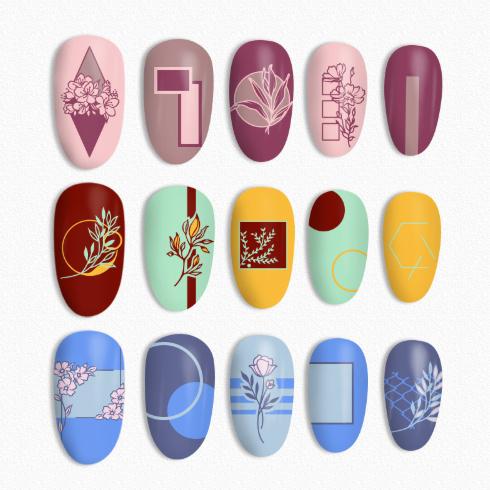 Born Pretty - Flower Tango L002 Stamping Plate - Nail Art Ideas