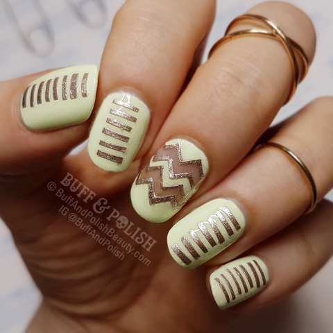 Buff & Polish - 31DC2017 Day 03: Yellow & Metallic Strips