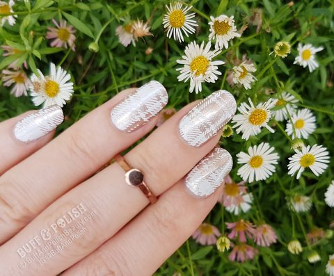 Buff & Polish - Picture Curable Frenchie with Beauty Big Bang Water Decals 29pc set