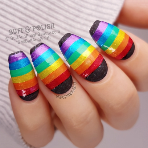 Buff & Polish - 31DC2018 Day 28 Gay Pride Flag