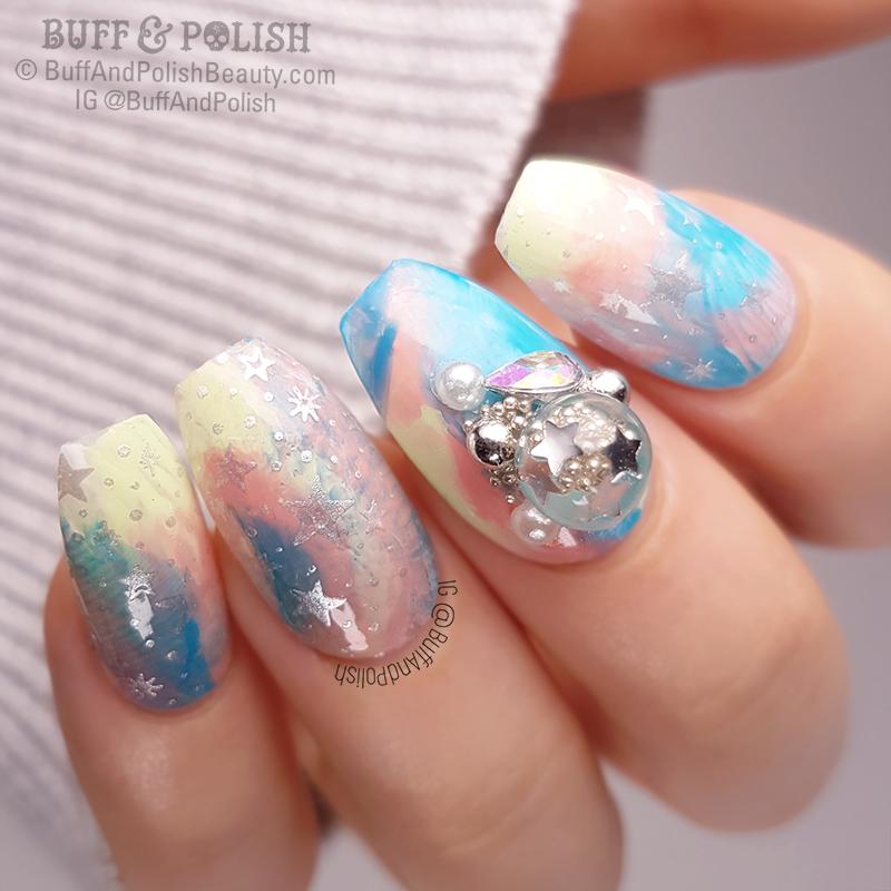 Buff & Polish - 31DC2018 Day 30 Tut - Candy Ball Smoosh