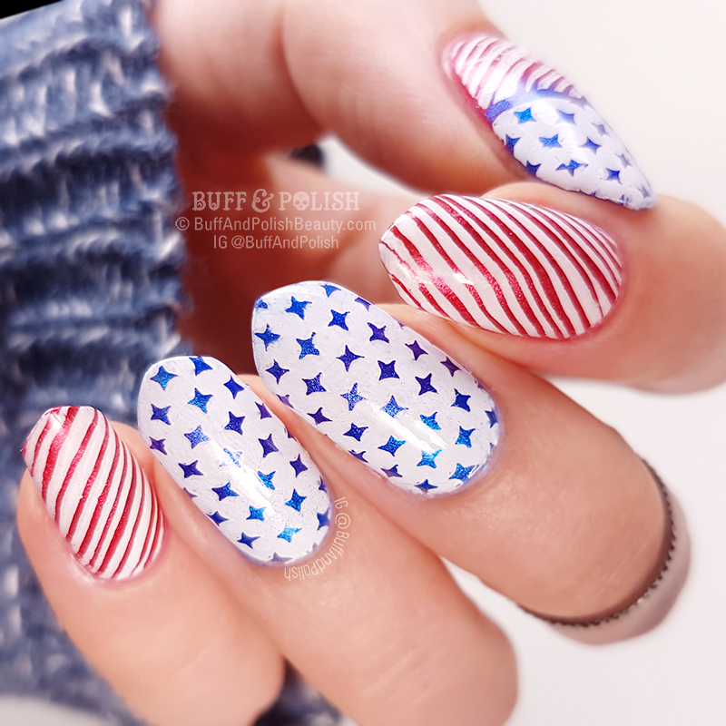 Buff & Polish - 4th of July 2018 nails