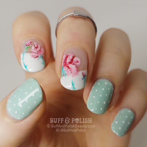 Buff & Polish - Handpainted Appletini-Roses