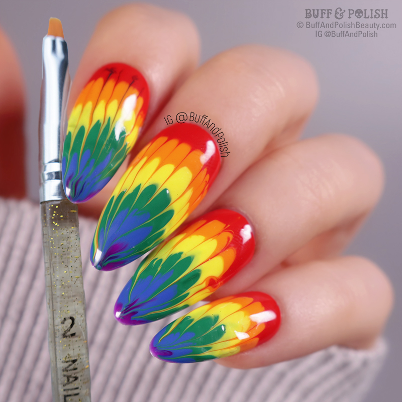Buff & Polish - Tie Die Gel Nails with Madam Glam's Perfect Collection & Beauty Big Bang 7pc Brush Set