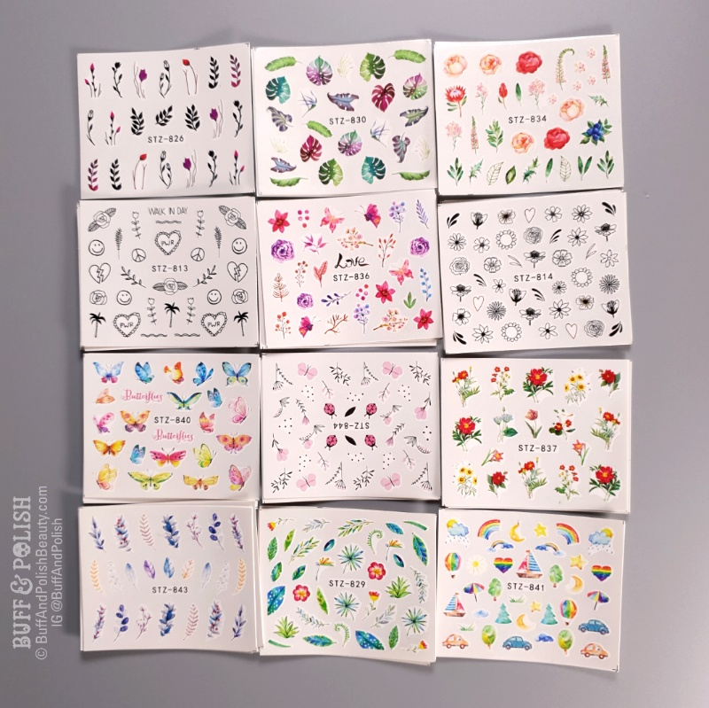 Buff & Polish - Beauty Big Bang 29pc Water Decals Set - what you get