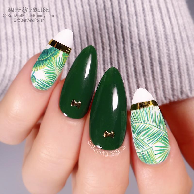 Buff & Polish - Born Pretty Gel Wizard of Oz, Tropical Leaves ART