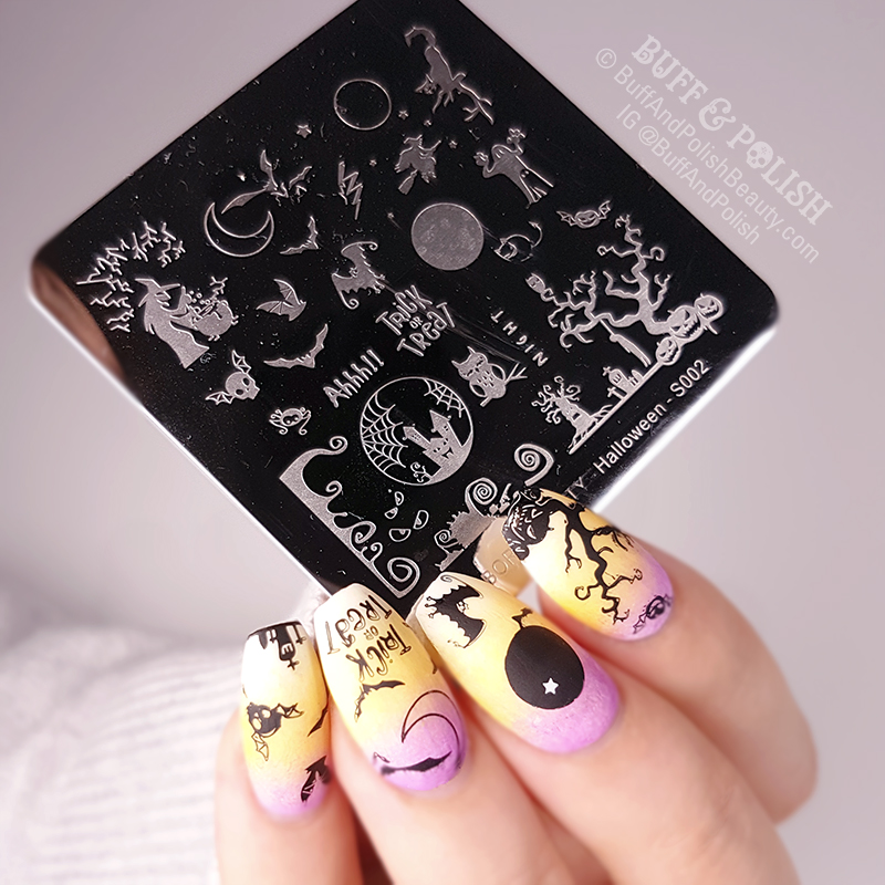 Buff & Polish - BPS Halloween Plate & Black Stamping Polish