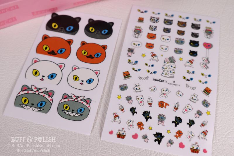 Born Pretty x KunCat Gel Polish Kit stickers