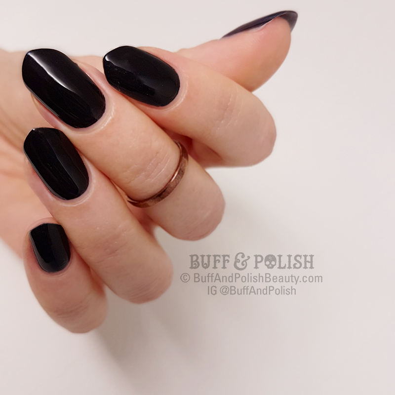 Buff & Polish - Opallac Black Market (on diff Cathedral nail shape)
