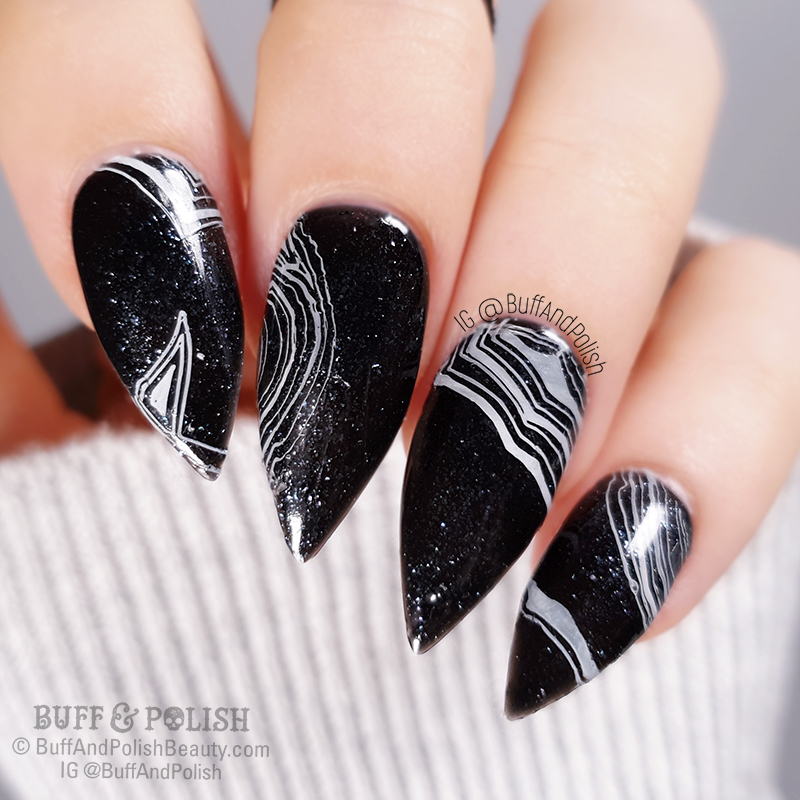 Buff & Polish - Black Sardonyx Nail Art