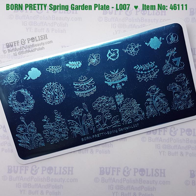 Buff & Polish - Born Pretty Stamping Plate Spring Garden
