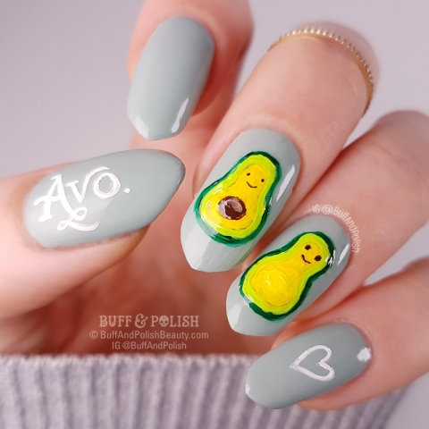 Buff & Polish's Avocado Farm - Hand-painted kawaii avocados