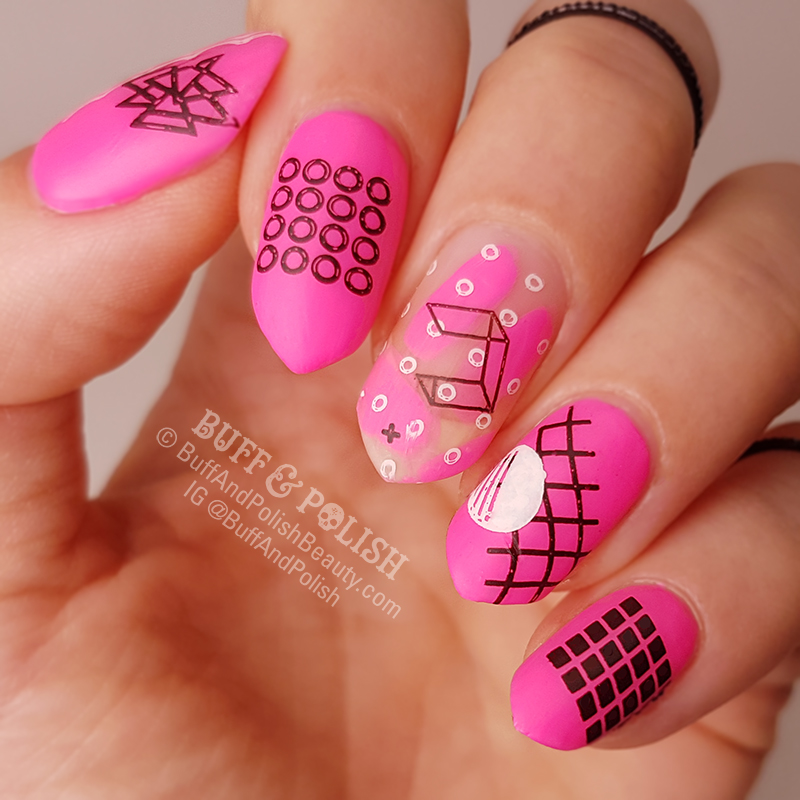 Buff & Polish - C8 Pink & Black 80's Theme