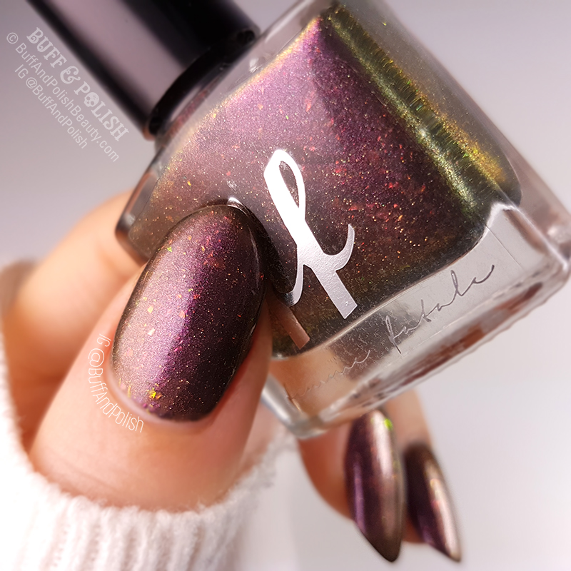 Buff & Polish – Femme Fatale Coniferae swatch close up - COTM July 2018
