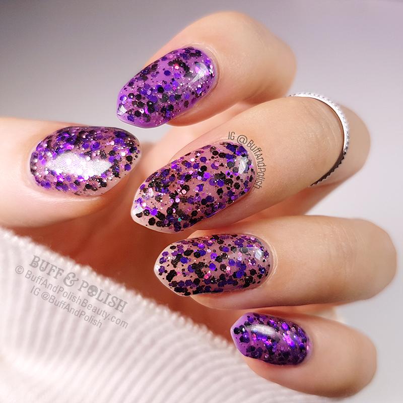Buff & Polish - Glitter After Dark, Opallac - Swatch
