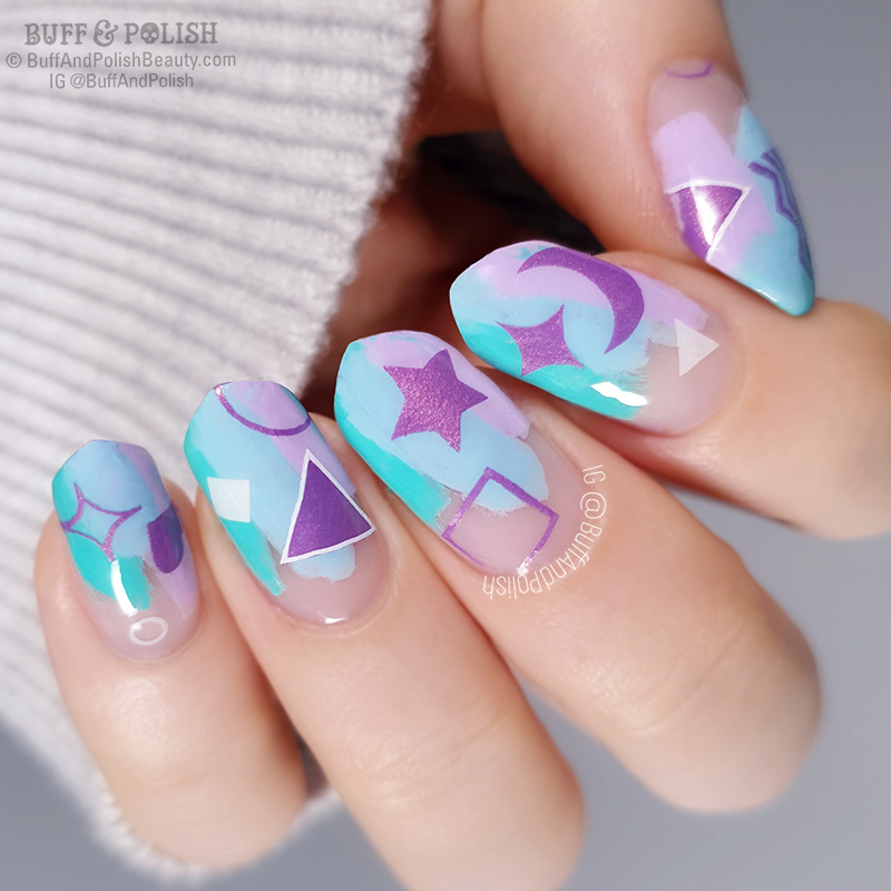 Buff & Polish - Nail Art with Hit the Bottle's Start the Day with Bubbly - PPU June 2019