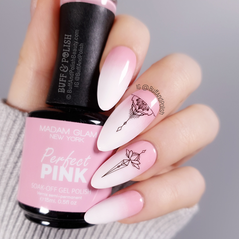 Buff & Polish - Madam Glam Perfect Pink & White Boomer nails