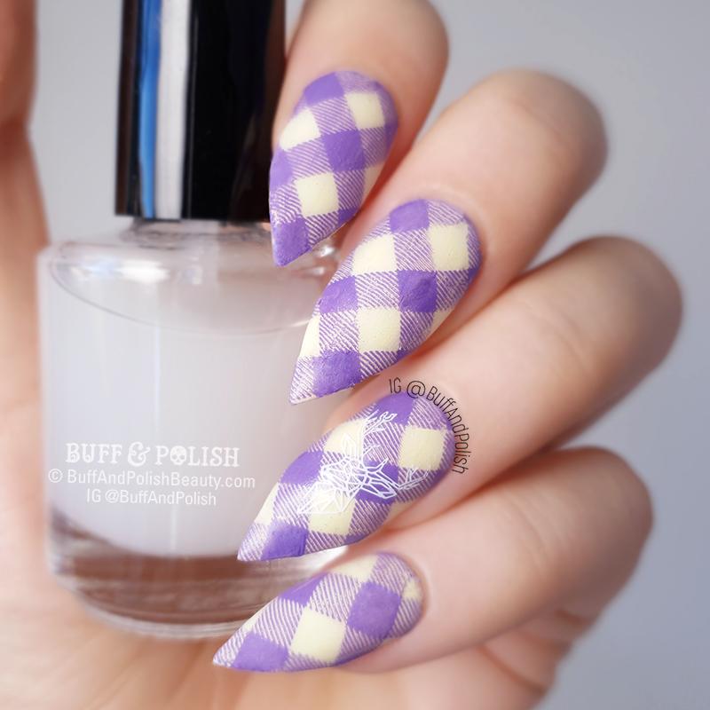 Buff & Polish - ManiSwapCircle, March 2019 Yellow & Purple