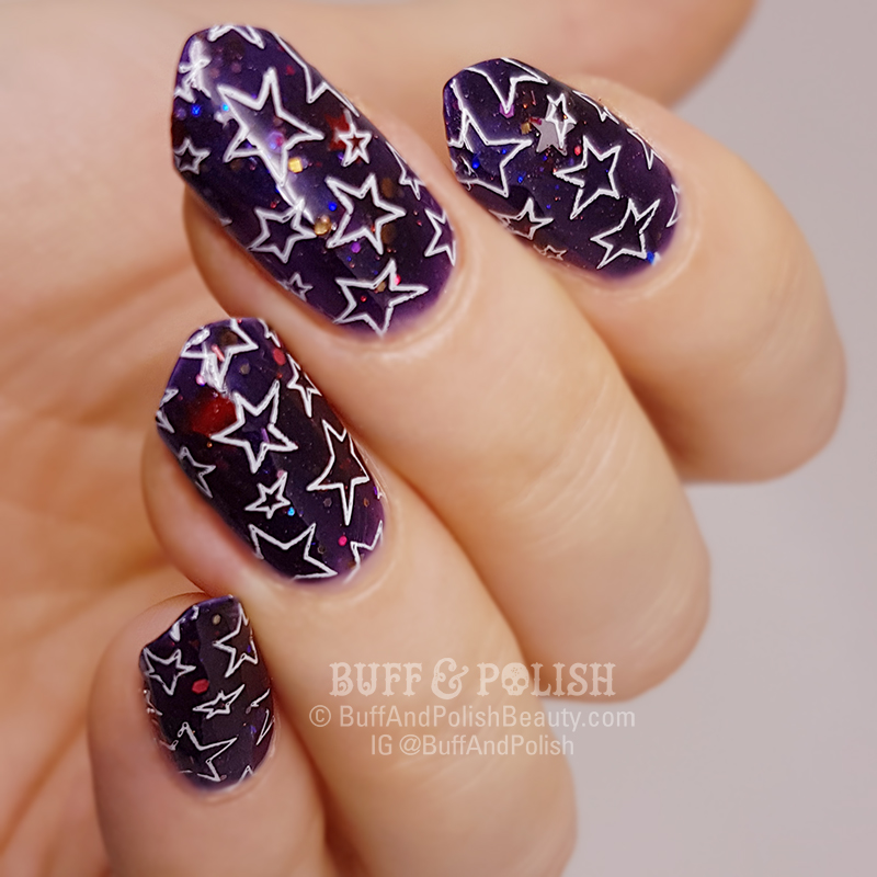 Buff & Polish - Mani Swap Circle Jan 2018: Ultra Violet Nail Art