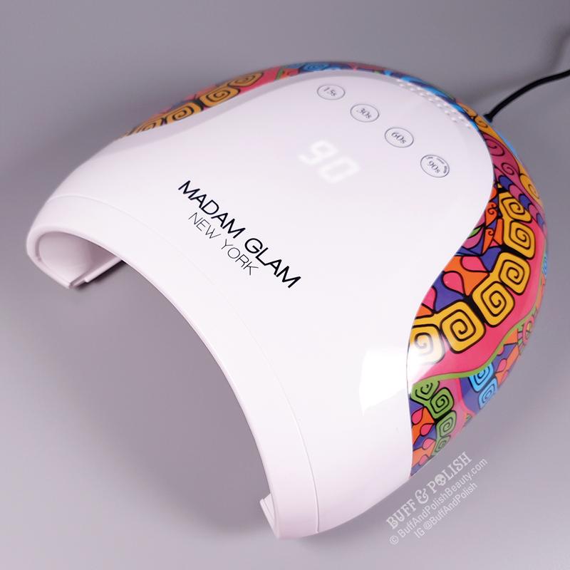 Buff & Polish Review - Madam Glam's 48w Holi UV LED Nail Lamp - LED Display 90sec
