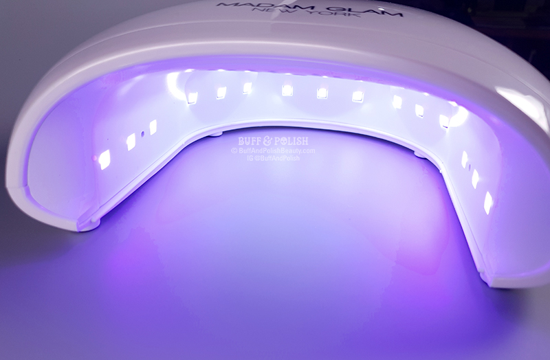 Buff & Polish Review - Madam Glam's 48w Holi UV LED Nail Lamp - LEDs In Use