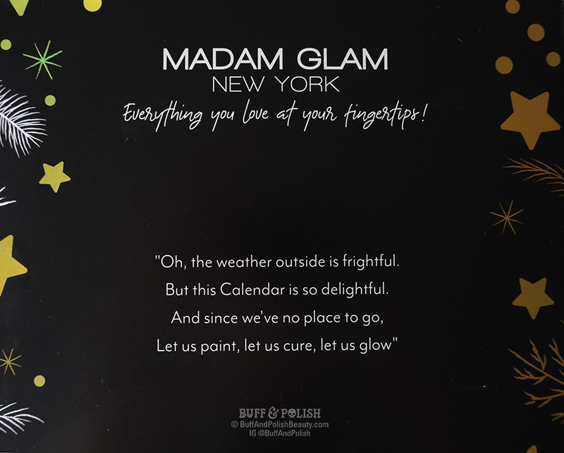 Buff & Polish - Madam Glam Advent Calendar 2020 - Gel Polish & Nail Tools, Poem