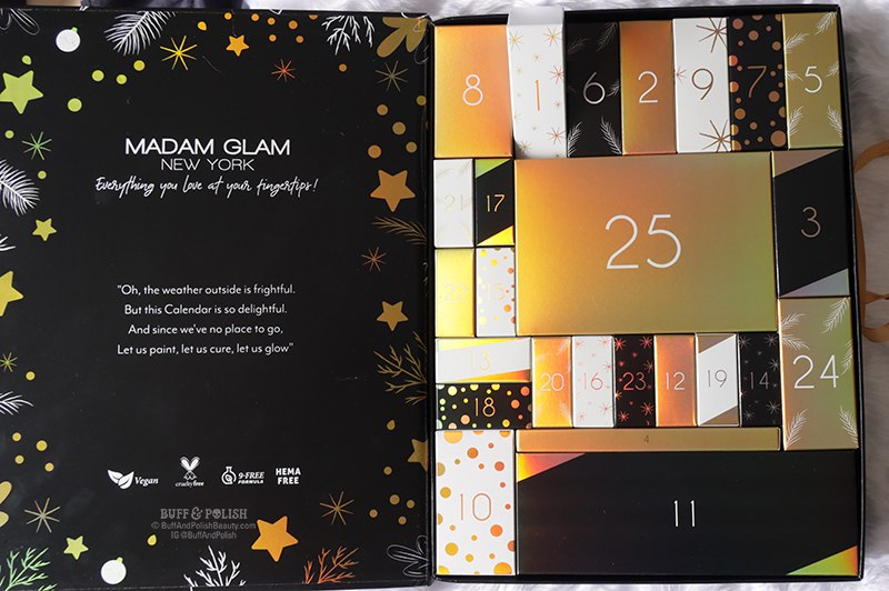 Buff & Polish - Madam Glam Advent Calendar 2020 - Gel Polish & Nail Tools, Giftboxes