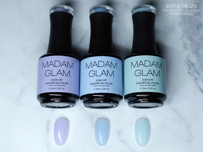 Buff & Polish - Madam Glam First Love Builder Gels - Swatches